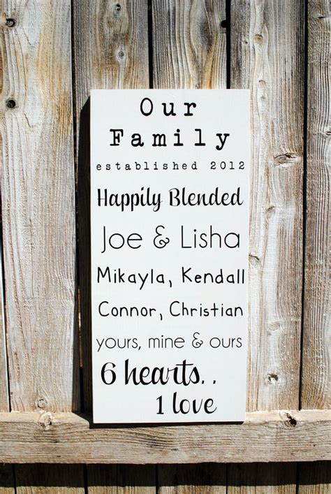 Wedding Quotes Joining Families by 17 Best Decorate Your Home Ideas For The Blended Family