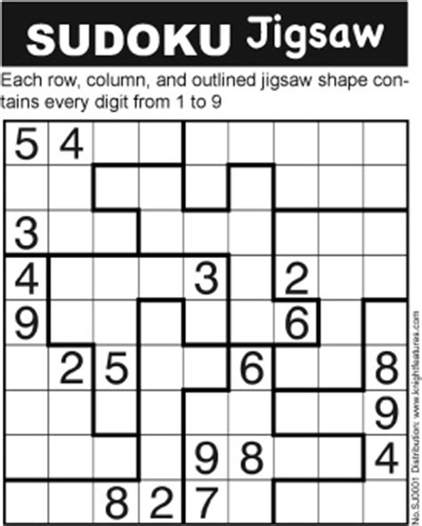 sudoku printable version a slightly different version of the usual sudoku puzzle