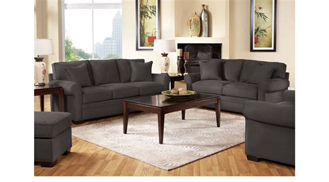 cindy crawford living room furniture 1 499 99 bellingham slate gray 7 pc living room classic contemporary microfiber