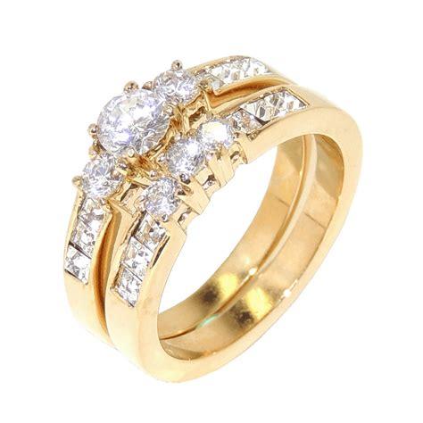 womens gold wedding ring sets   Wedding Ideas