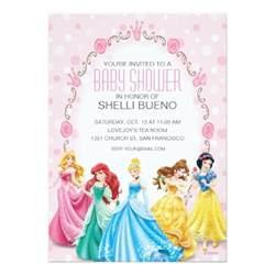 disney princess it s a baby shower invitation card