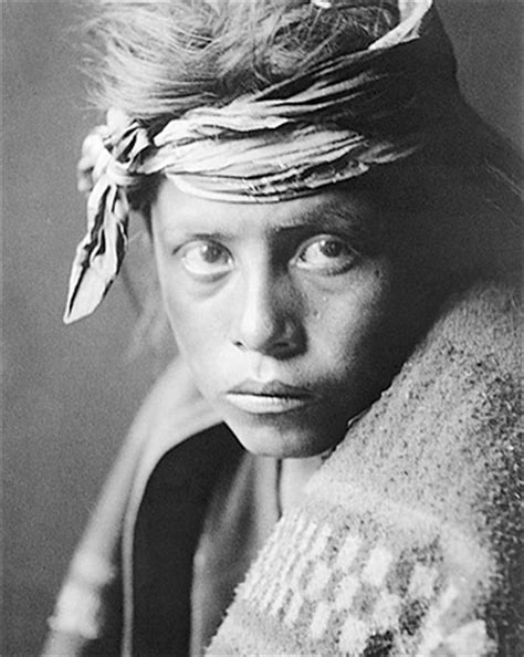 navajo youth edward s. curtis portrait 1906 photo print