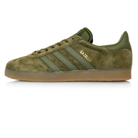 adidas suede gazelle olive shoe bb  green  men lyst