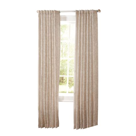 martha stewart living curtain rods martha stewart living natural twine floral scroll back tab