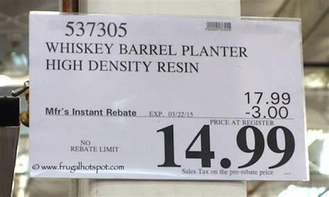 Costco Whiskey Barrel Planter by Costco Sale Southern Patio Whiskey Barrel Hdr Planter