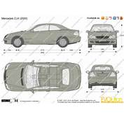 The Blueprintscom  Vector Drawing Mercedes Benz CLK W209