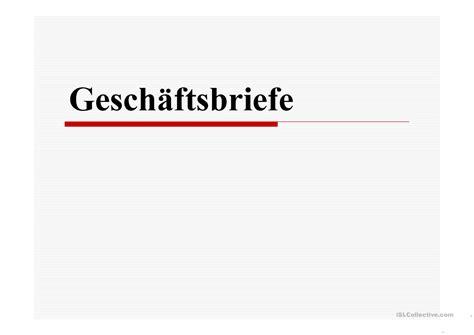 geschaftsbriefe einf 252 hrung arbeitsblatt free esl projectable worksheets made by teachers