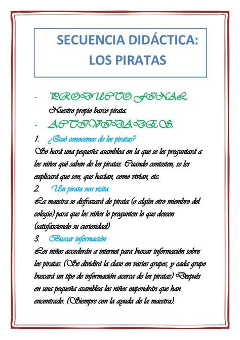 un barco muy pirata libro secuencia de did 225 ctica