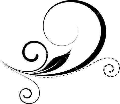 Swirl Black decorative swirl element