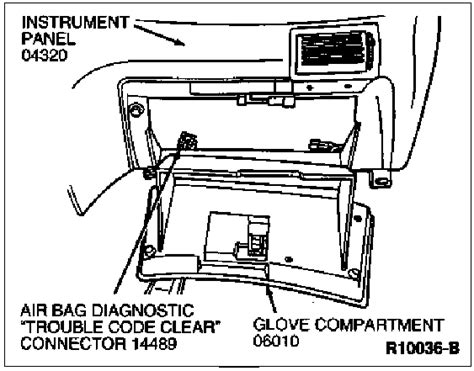 airbag deployment 1993 ford taurus on board diagnostic system how to reset the airbag module new york mustangs forums