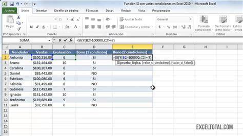excel tutorial russian funci 243 n si con varias condiciones en excel 2010 123vid