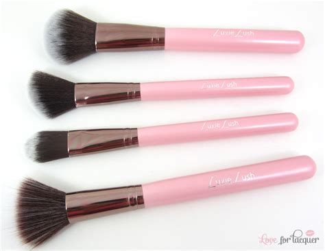 Luxie Set 1 luxie lush pink perfection synthetic makeup brush collection review for lacquer