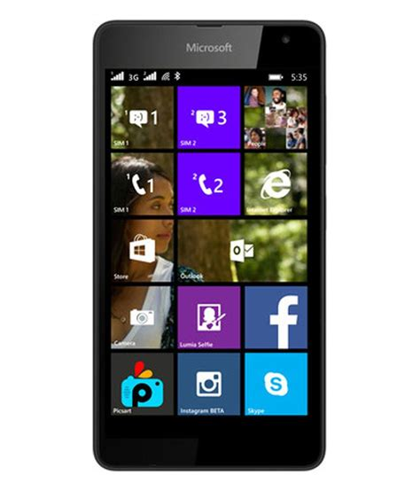 Microsoft Lumia Nokia microsoft nokia lumia 535 8gb gsm phone black price in