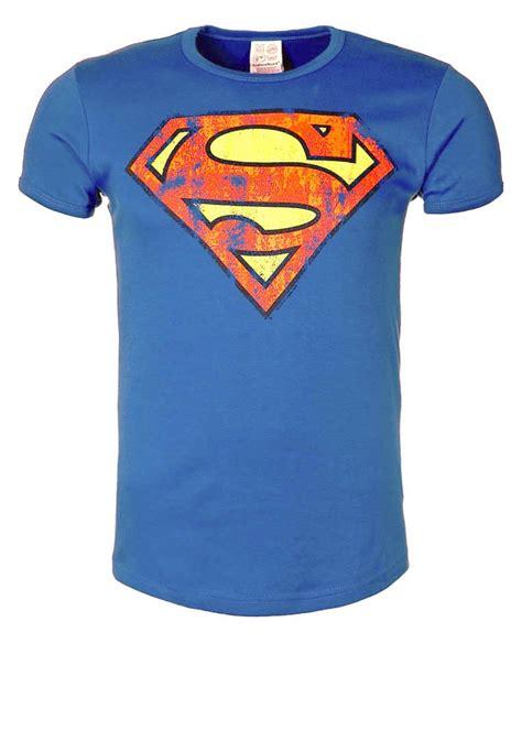 T Shirt Superman 5 logoshirt superman t shirt print azure blue zalando ch