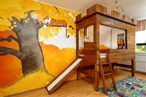 calvin and hobbes kid s bedoom makes us want to be again photo huffpost