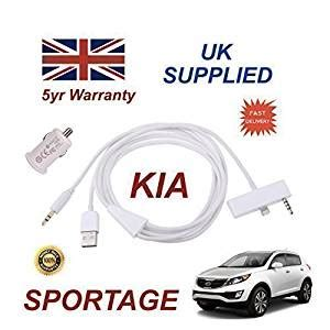 Kia Iphone 5 Kia Sportage Iphone 5 5c 5s 3 5 Mm Aux Verbindung Usb