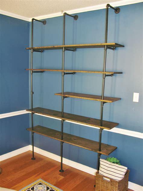 DIY Industrial Pipe Bookshelf Brass Peacock