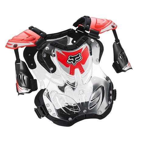 fox motocross chest protector fox racing mx youth r3 clear chest protector