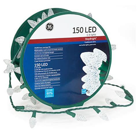 ge 174 staybright 174 led c6 christmas lights 150 count big lots