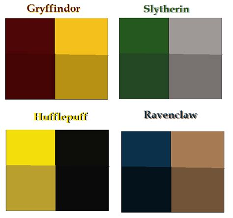 hogwarts house colors base by airbender01 on deviantart