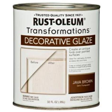 home depot paint glaze rust oleum transformations 1 qt java brown cabinet
