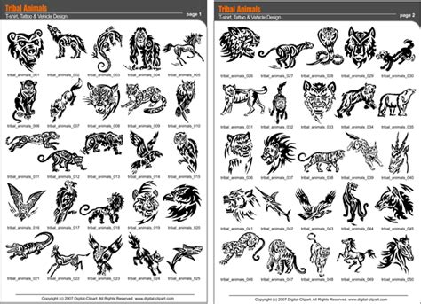 tribal tattoos animals
