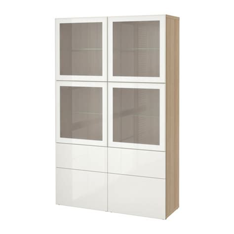 ikea besta glass best 197 storage combination w glass doors white stained