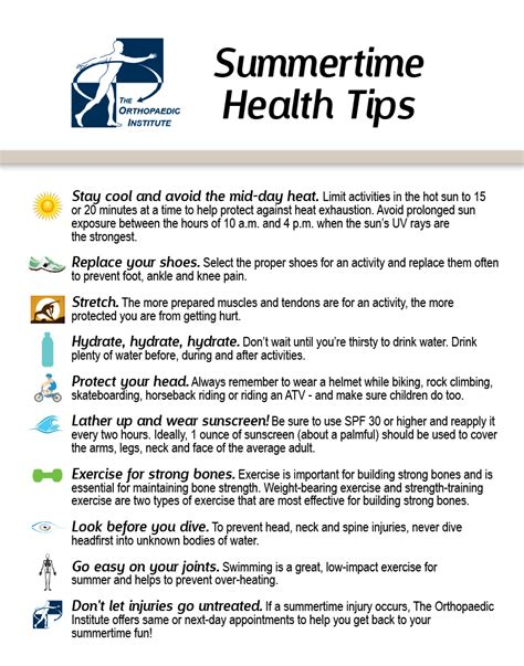 Some Tips For Summer by Keeping You Bodywise Summertime Health Tips Brought To