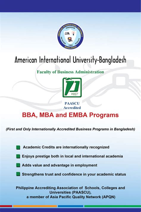 American Intercontinental Mba Accreditation by Faculty Of Business Administration Programs Bba Mba And
