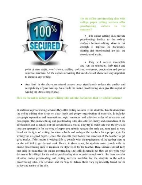 Essay Proofreader by College Essay Proofreading Service