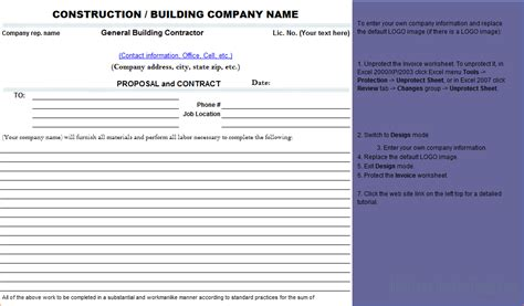 construction bid software 7 contractor template timeline template