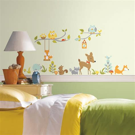 roommates stickers muraux quot woodland fox quot home depot canada