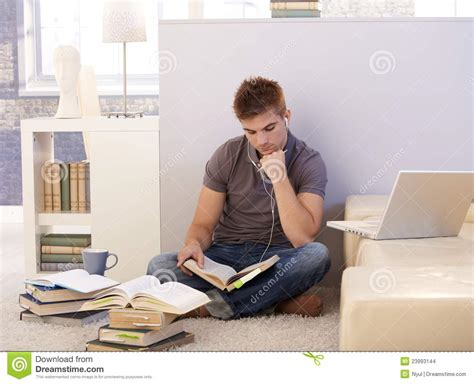 Student And College Student Studying At Home Stock Photo Image 23993144