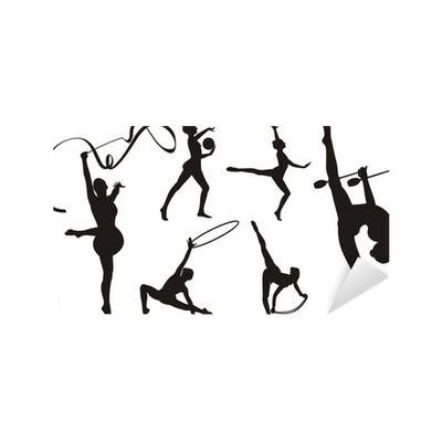 vinilos gimnasia ritmica vinilo pixerstick gimnasia r 237 tmica con aparatos silueta