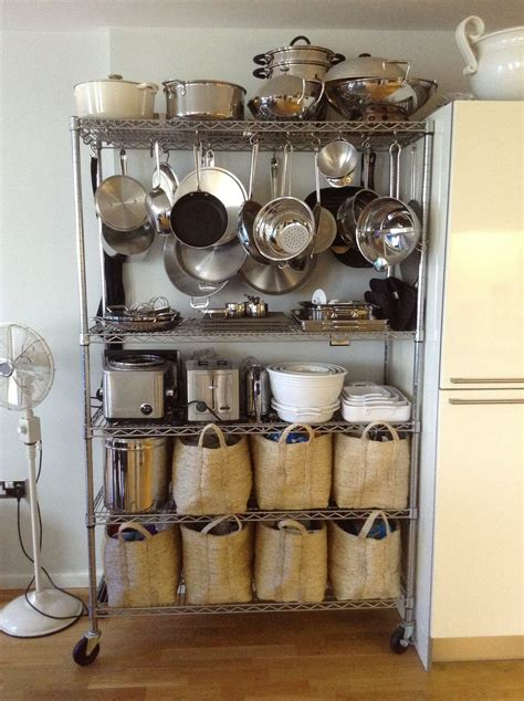 pots and pans rack cabinet hang pots and pans from bakers rack ideas for my new