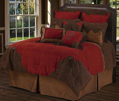 red rodeo western style bedding comforter set