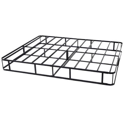 Metal Bed Frame Cover Black Modern Heavy Duty Metal Size Bed Frame Mattress Foundation W Cover Ebay