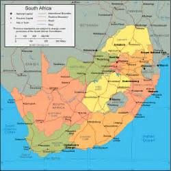 Outline Map Of South Africa With Major Cities by Map Of South Africa
