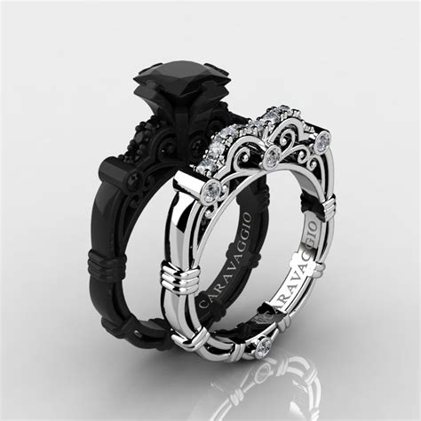 Art Masters Caravaggio 14K Black and White Gold 1.25 Ct