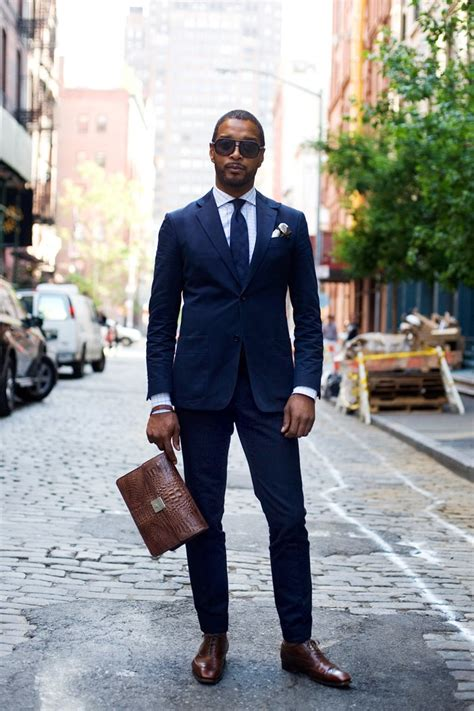 brown dress shoes with navy suit images