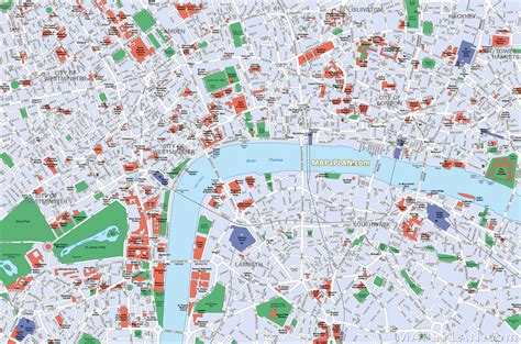 printable map central london maps update 21051488 map of central london with tourist