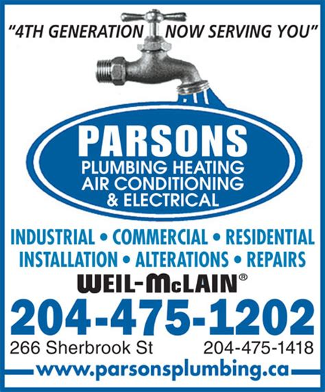 Parsons Plumbing Winnipeg by Parsons Plumbing Heating Cooling Electrical 266