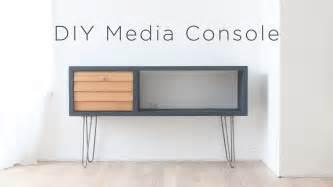 media cabinet diy diy media console a mid century modern inspired diy