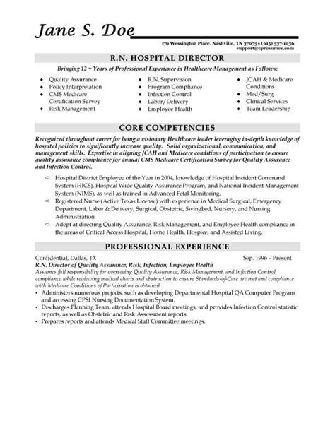 Resume Sles For Healthcare Administrators Resume Sles Types Of Resume Formats Exles And Templates