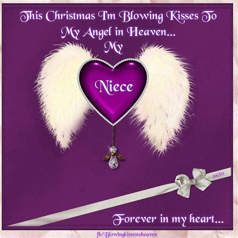 christmas im blowing kisses   niece  heaven missing  loved   heaven