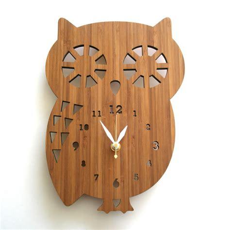 owl wall clock buddy owl wall clock by decoylab rosenberryrooms