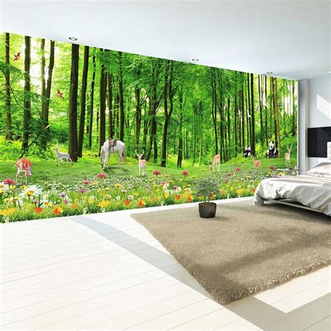 affordable wall murals get cheap deer wall murals aliexpress alibaba