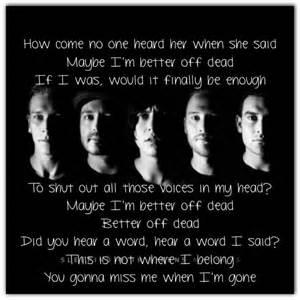 better dead lyrics better dead lyrics sleeping with sirens listen