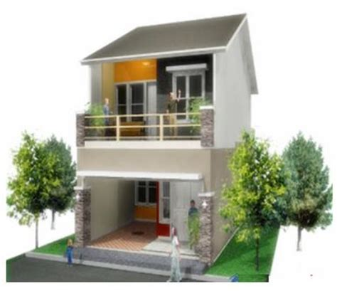 gambar desain rumah kecil minimalis 2 lantai