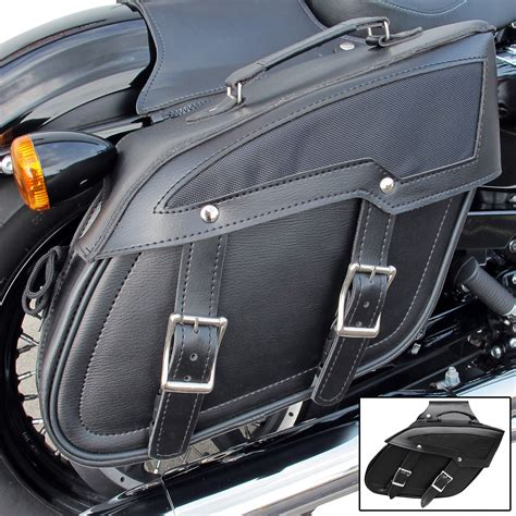 Handmade Leather Motorcycle Saddlebags - motorcycle custom leather effect plain angle panniers